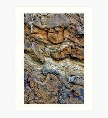 Rock Chasm III Art Print