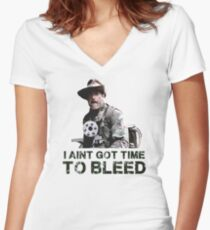 Predator I Aint Got Time To Bleed Women's Fitted V-Neck T-Shirt