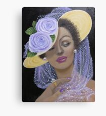 Mysterious and Elegant Lady Canvas Print