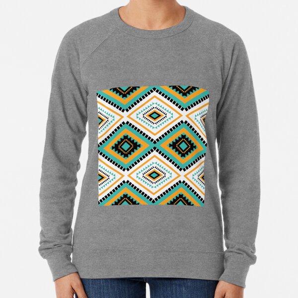 Geometric ethnic tribal textile fabric aztec African American mandalas motif native boho bohemian carpet  Lightweight Sweatshirt