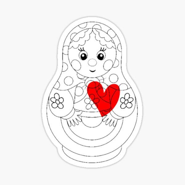 Matryoshka in love Sticker