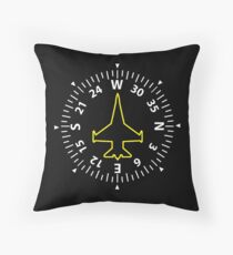 Jet fighter pilot Throw Pillow