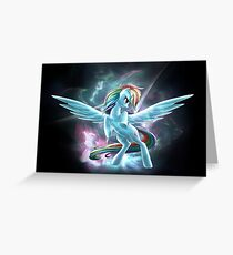 My Little Pony - A Dash of Kick@ss Greeting Card