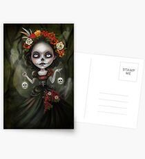 Katrina Day of the Dead Skull Girl Postcards