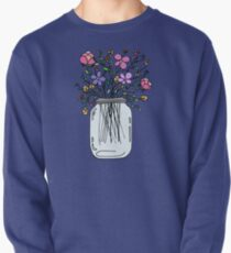 Mason Jar with Flowers Pullover