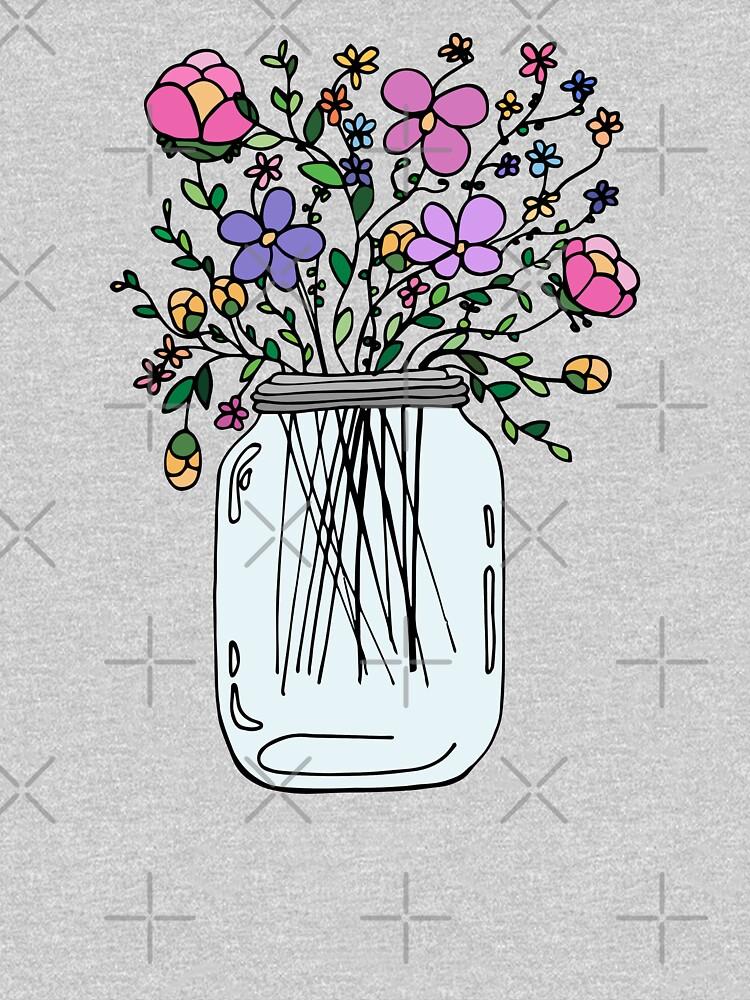 Einmachglas mit Blumen von mlleruta