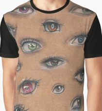 A Collage of Eyes Graphic T-Shirt