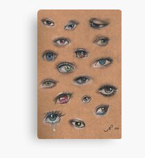 A Collage of Eyes Canvas Print