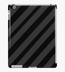 Black and gray elegant lines iPad Case/Skin
