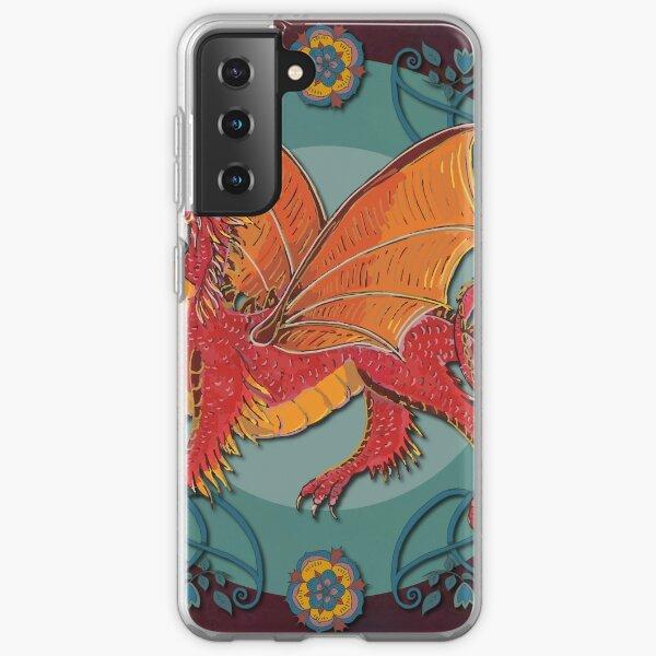 Celtic Medieval Fire Dragon Samsung Galaxy Soft Case