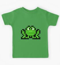 Pixel Frogger Kids Tee