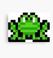 Pixel Frogger Canvas Print
