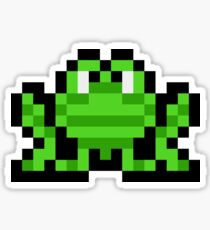Pixel Frogger Sticker