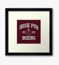 IRISH PUB BOXING Framed Print