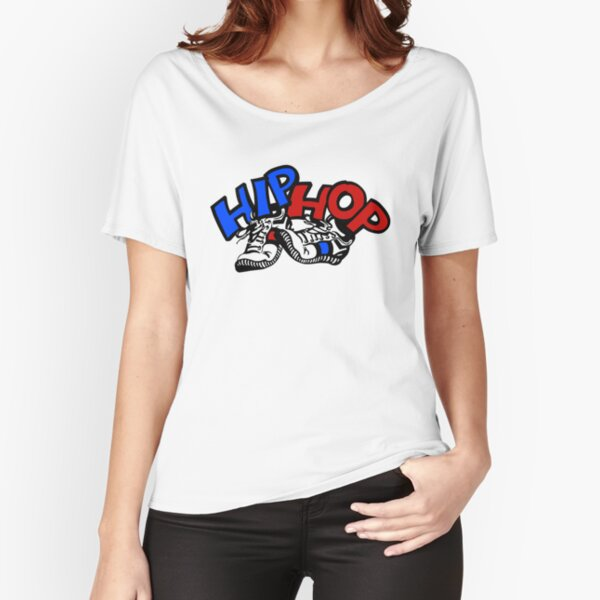 Hip hop shoes design and graffiti Relaxed Fit T-Shirt