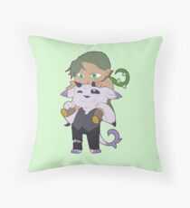 Flora and Butch Throw Pillow