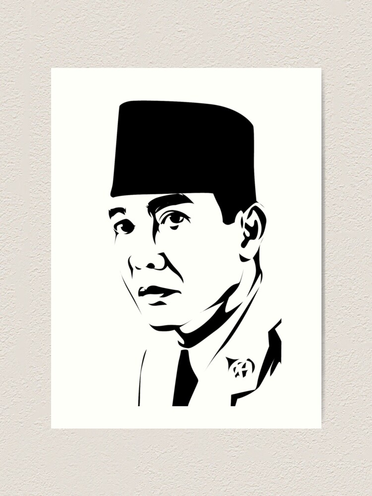 Ir Soekarno Art Print By Ajiplatinumjohn Redbubble