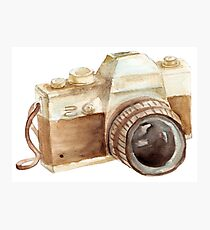 watercolor camera Photographic Print