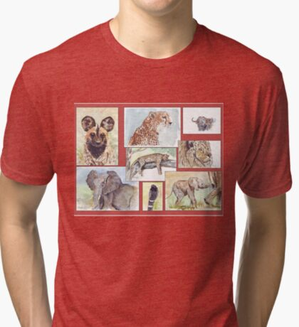 Lodge décor – South African wildlife collection Tri-blend T-Shirt