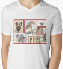 Lodge décor – South African wildlife collection Men's V-Neck T-Shirt