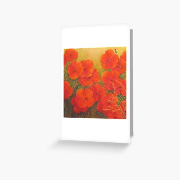 """Poppies - Tuscany"" Greeting Card"