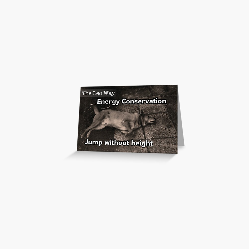The Leo Way: Conserve Energy Greeting Card