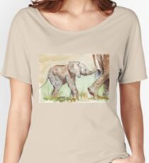 Baby Elephant walk Women's Relaxed Fit T-Shirt