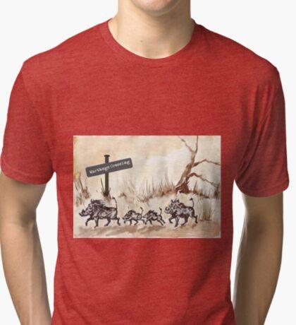 Warthogs Crossing Tri-blend T-Shirt