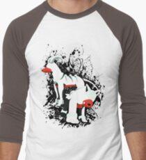 Houndour and Houndoom Splatter Men's Baseball ¾ T-Shirt