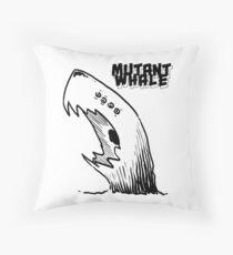 Mutant Whale Throw Pillow