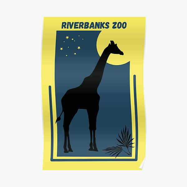 Riverbanks Zoo in South Carolina - Vintage Style Geometric Modern Poster Poster