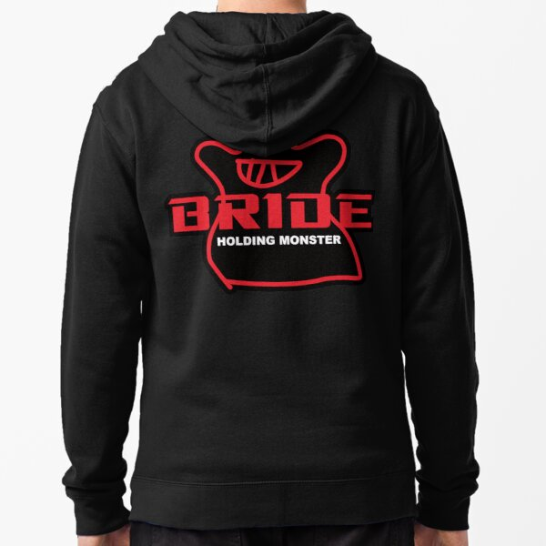 BRIDE Factory Black Zipped Hoodie