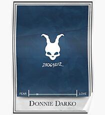 Minimalistisches Plakat Donnie Darko Poster