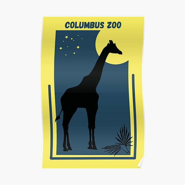 Columbus Zoo in Powell, Ohio - Vintage Style Geometric Modern Poster Poster
