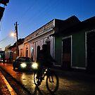 Night Rider in Trinidad de Cuba (Colour Version) by Leanne Kelly