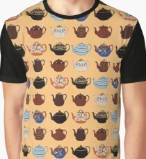 Vintage Teapot Repeating Pattern Graphic T-Shirt