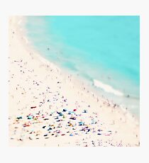 beach love square Photographic Print