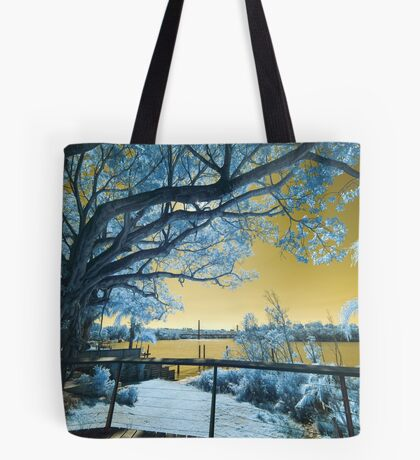 The Fig Tree and the Eleanor Schonell Bridge Tote Bag