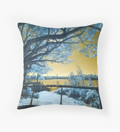 The Fig Tree and the Eleanor Schonell Bridge Throw Pillow