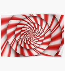 Abstract - Spirals - The power of mint Poster