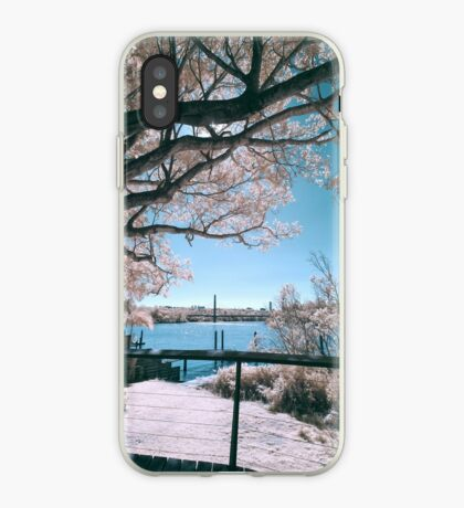 The Fig Tree in Pink And Green iPhone Case