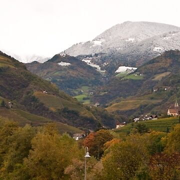 Snow line on the hills, Bolzano/Bozen, Italy (Panorama) by leemcintyre