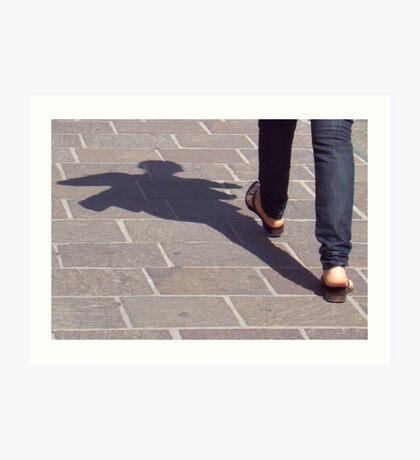 Winged shadow, Bolzano/Bozen, Italy Art Print