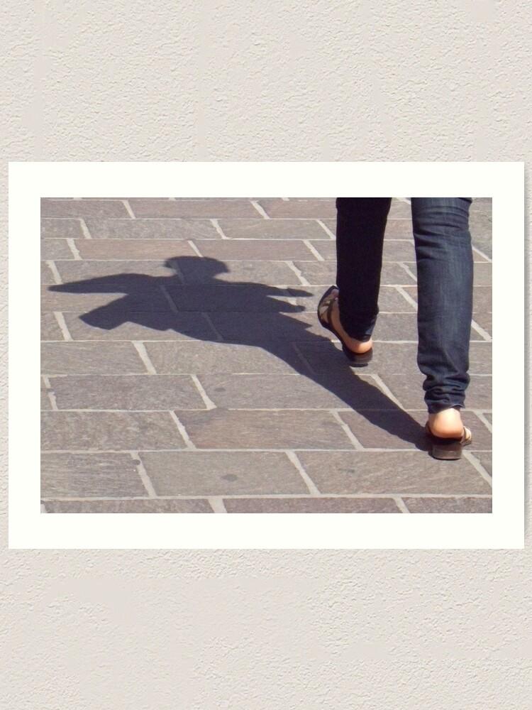 Alternate view of Winged shadow, Bolzano/Bozen, Italy Art Print