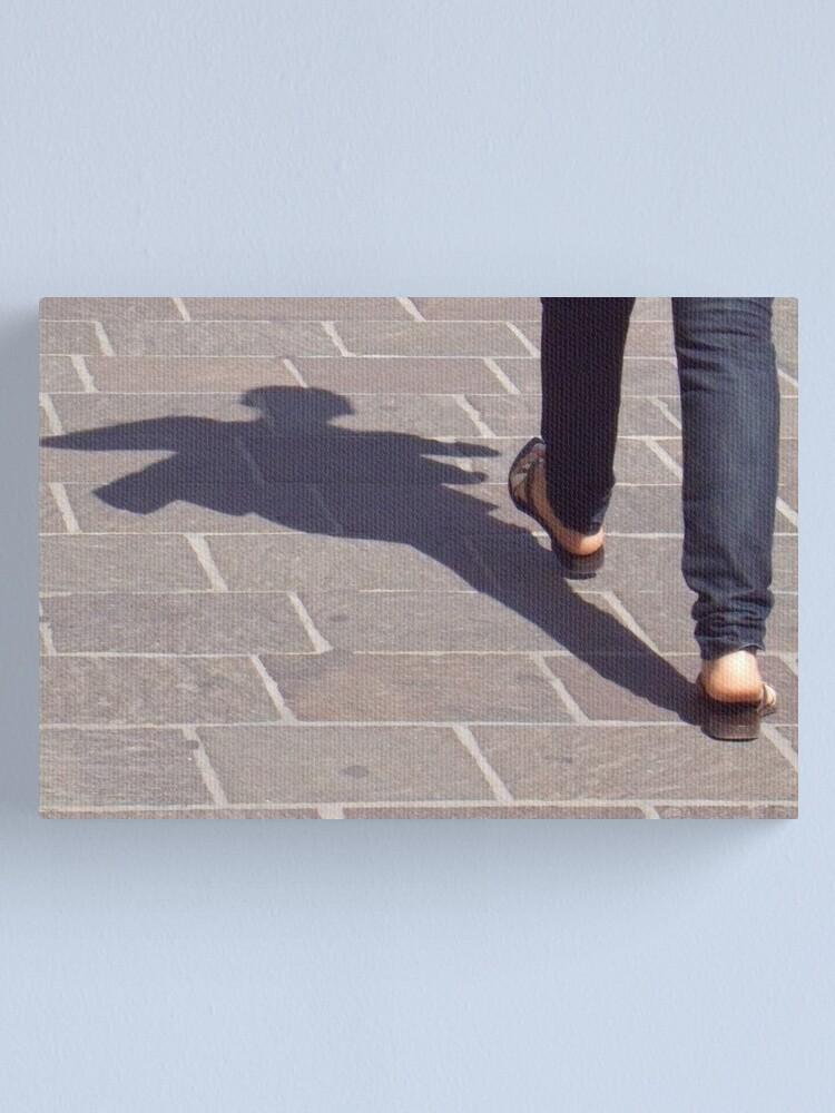 Alternate view of Winged shadow, Bolzano/Bozen, Italy Canvas Print
