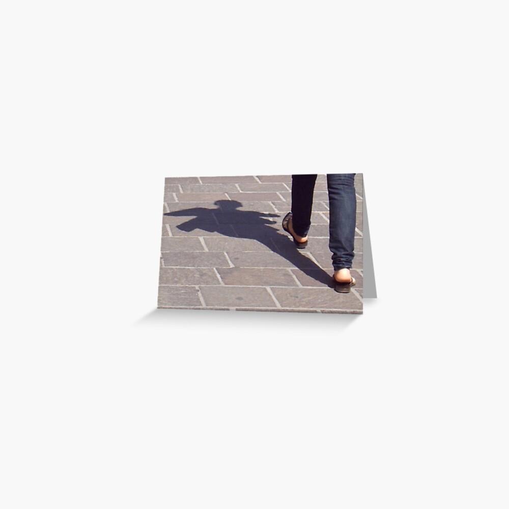 Winged shadow, Bolzano/Bozen, Italy Greeting Card