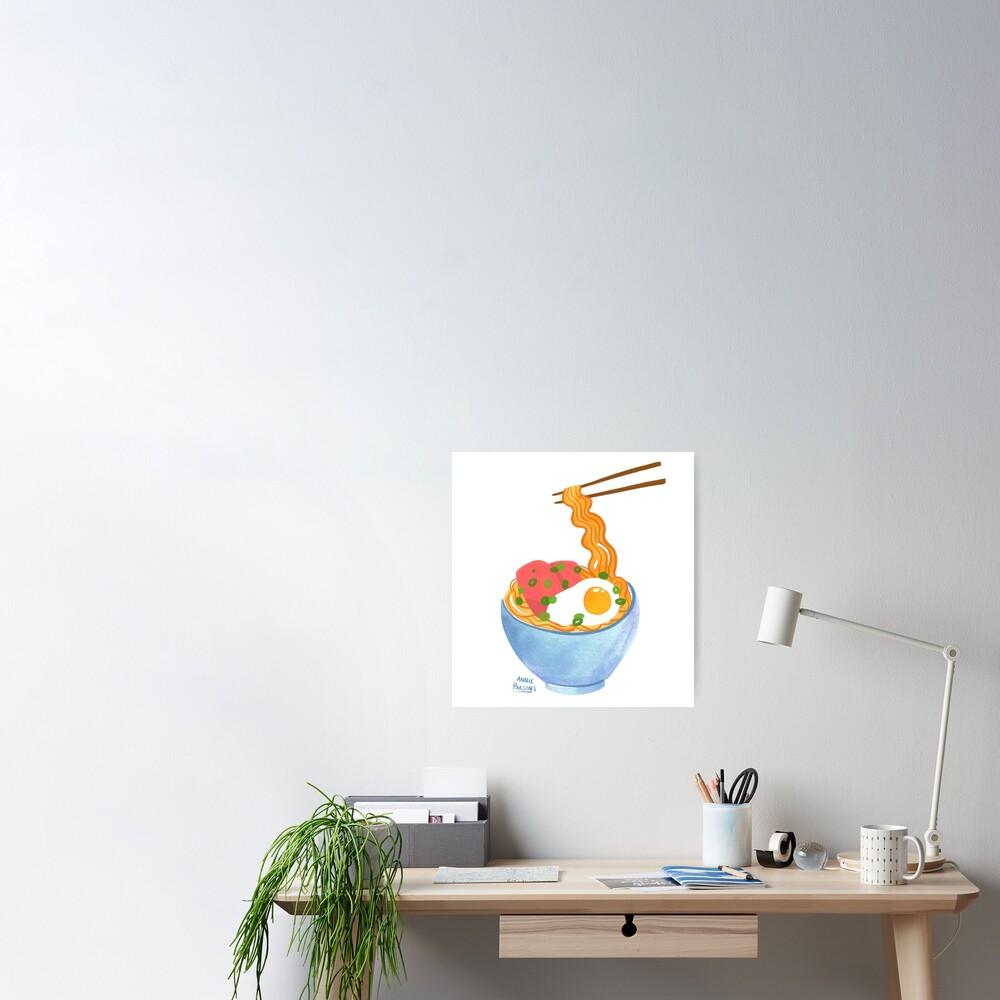 Watercolor Ramen Bowl Poster