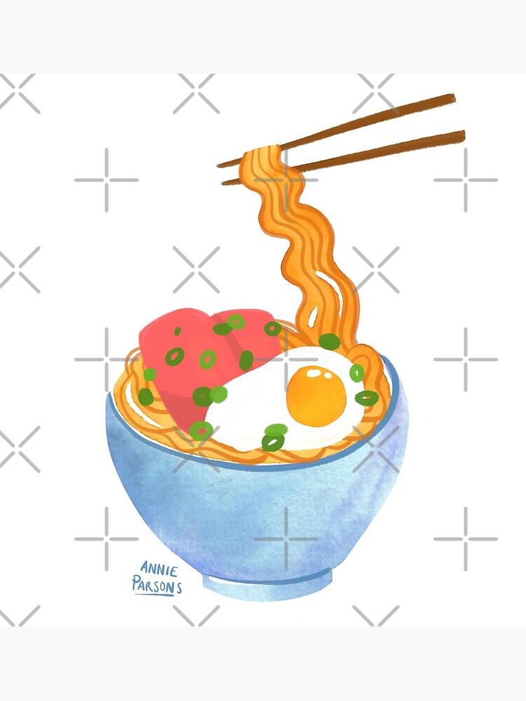 Watercolor Ramen Bowl by annieparsons