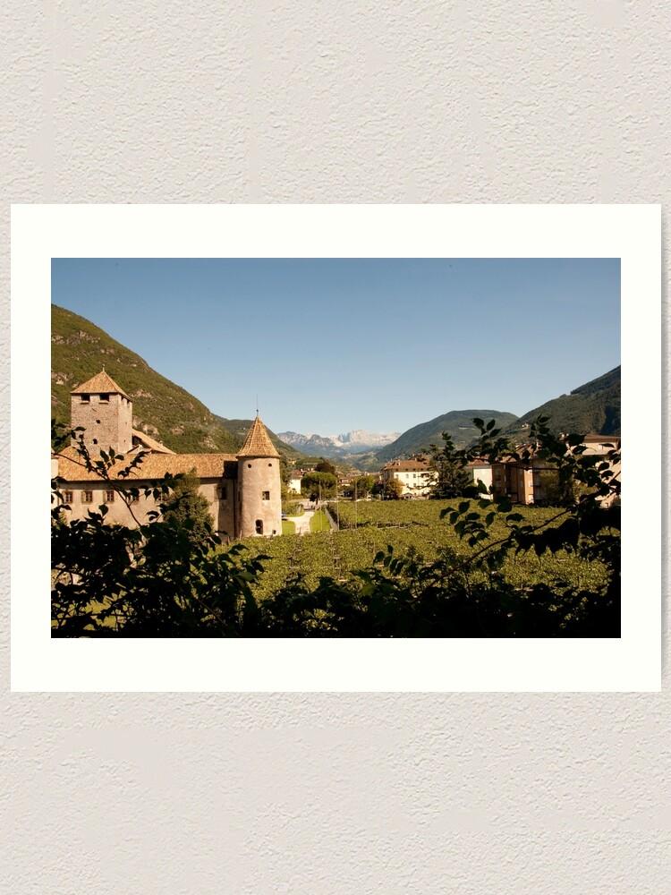 Alternate view of Castle Mareccio Vineyard, Bolzano/Bozen, Italy Art Print