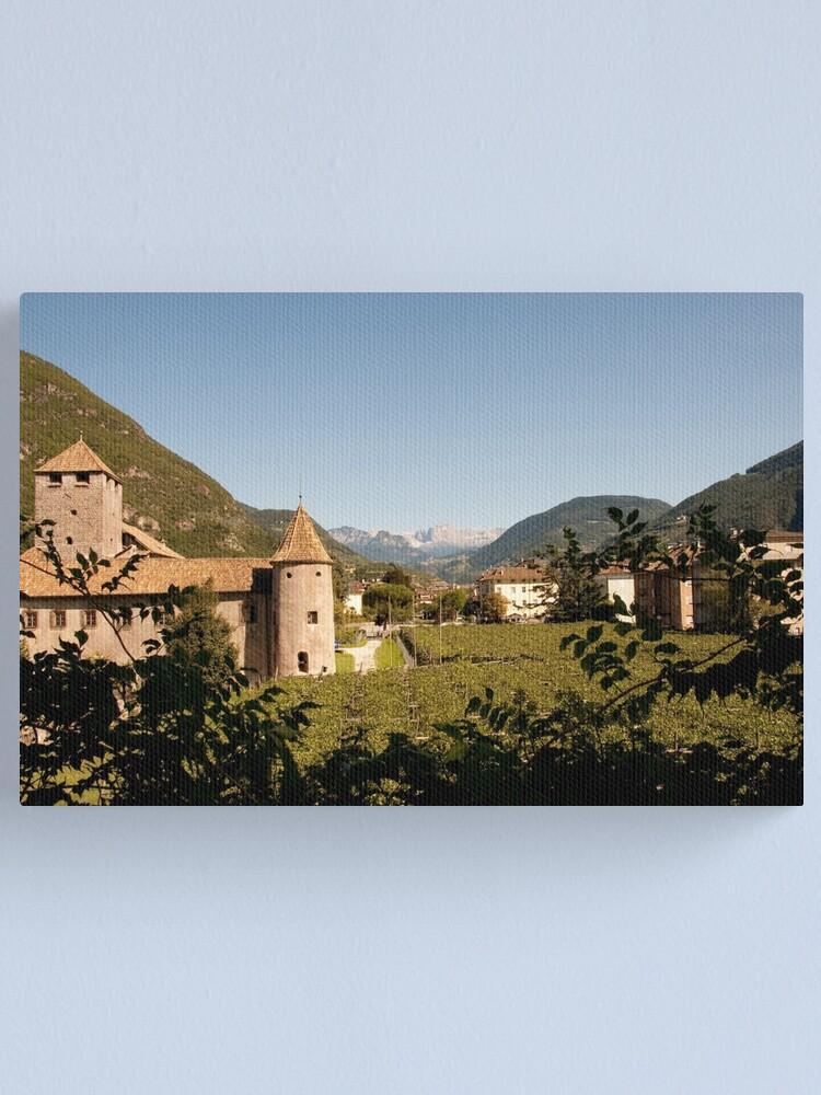 Alternate view of Castle Mareccio Vineyard, Bolzano/Bozen, Italy Canvas Print